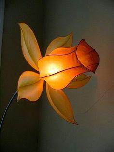 Amazing handmade paper light by HiiH Lights, via All Things Paper Paper Light, Light Art, Lamp Light, Flower Lamp, Flower Lights, Paper Decorations, Light Decorations, Paper Art, Paper Crafts