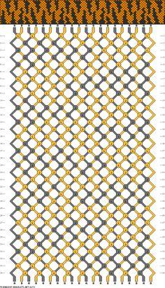 20 strings, 34 rows, 2 colors