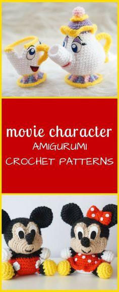 Cute amigurumi crochet patterns #crochet #pattern #ad #movie