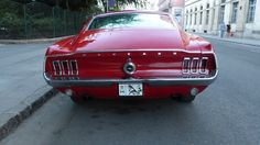 Red 1968 Ford Mustang Fastback in Budapest 1968 Ford Mustang Fastback, Budapest, Muscle Cars, Nice, Red