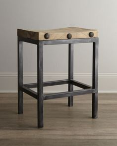 """""""Wilber"""" Stools at Horchow."""