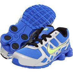 d87b0886c9396c Nike kids shox turbo 12 toddler youth treasure blue metallic silver bolt
