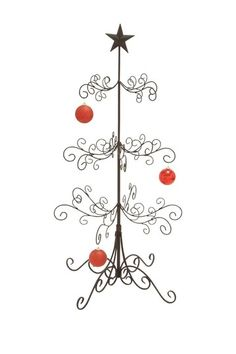 Great alternative to needles all over the floor and hopefully distracts the cat from climbing it. Iron Christmas Tree - Large by Non Specific on @HauteLook