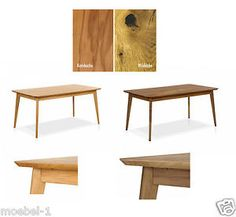 Esstisch Tisch Esszimmer Massivholztisch Lounge 50er Jahre Retro Austin Massiv