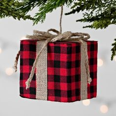 Buffalo Check Red and Black Gift Ornament