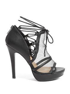 75a89f5d5fe Affy Mesh Platform Heels at Guess