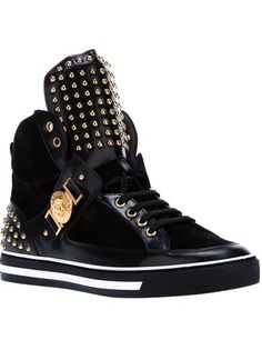 VERSACE - studded hi-top