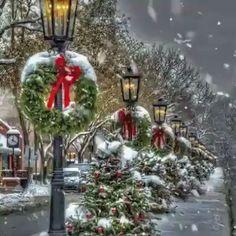 Christmas Scenery, Noel Christmas, Vintage Christmas Cards, Christmas Wishes, Christmas Pictures, Christmas Greetings, Christmas Wreaths, Christmas Decorations, Xmas