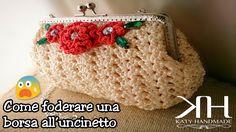 ❀ [Tutorial #6] Come foderare una borsa all'uncinetto || Line a crochet ...