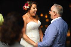 Tropical bride, newlyweds
