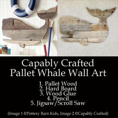 Pallet Whale Art (Pottery Barn Kids Prop)