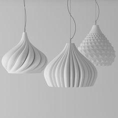 Basil's triptych lamps from DzStudio by designer Enrico Zanolla -- http://www.arthitectural.com/dzstudio-basils-triptych/