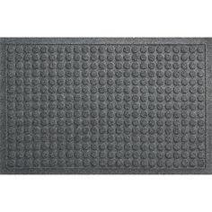 Thirsty Dots® Grey Doormat in Doormats | Crate and Barrel