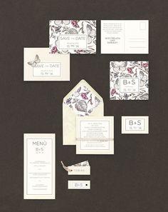 Vintage-Schmetterlinge - Papeterie, Hochzeitspapeterie, Karten, Einladung, Kirchenheft, Danksagung, Save-the-Date, Menü, Programmheft, Hochzeitszeremonie