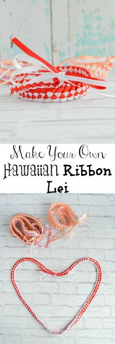 How to Make a Braided Ribbon Hawaiian Lei - great for Valentine's, Graduation, etc.
