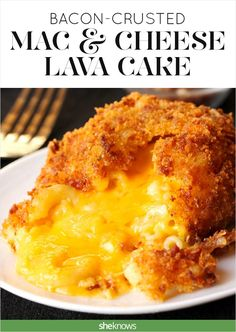 This mac & cheese lava cake is so weekend comfort food goals