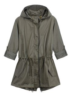 Women Casual Long Sleeve Drawstring Pocket Patchwork Hooded Jacket