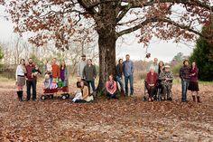 Large family photo idea outdoor, casual, fall, multiple families