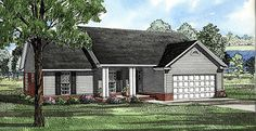 Ranch House Plan 82026