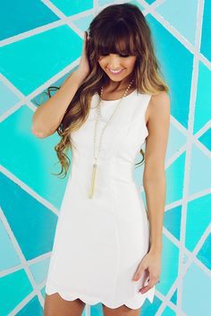 Pretty In Petals Dress: White #shophopes