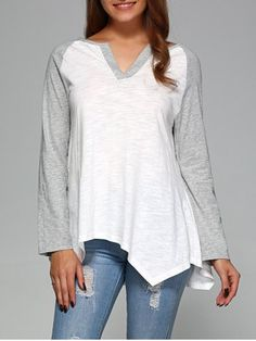 GET $50 NOW | Raglan Sleeve Asymmetrical T-ShirtFor Fashion Lovers only:80,000+ Items • New Arrivals Daily • FREE SHIPPING Affordable Casual to Chic for Every Occasion Join RoseGal: Get YOUR $50 NOW!http://www.rosegal.com/t-shirts/raglan-sleeve-asymmetrical-t-shirt-803028.html?seid=7844052rg803028