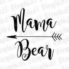 Free Svg Cut Files Mama Bear