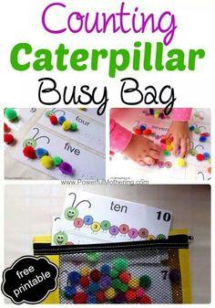 Counting busy bag printable