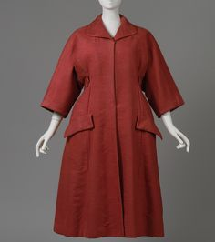 """Christian Dior (French, 1905–1957). Coat, spring/summer 1953. The Metropolitan Museum of Art, New York. Gift of Mrs. A. Moore Montgomery, 1957 (C.I.57.62.1a–c) 