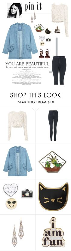 """""""Untitled #1126"""" by anetacerna ❤ liked on Polyvore featuring A.L.C., Topshop, Finest Imaginary, Design Lab, Des Petits Hauts, Alexis Bittar, ban.do and Olgana"""