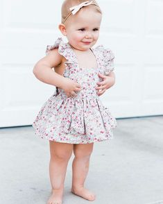 Click to shop classic schoolgirl headband bows by Free Babes Handmade. Sweet Dress by Blyth and Reese Handmade.
