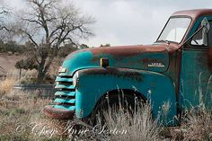 Old Blue 3800 Chevy Truck 1952 Big CANVAS by NewMexicoMtnGirl, $345.00