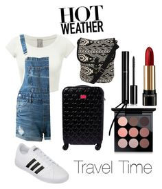 """""""On the go"""" by icemaoffical on Polyvore featuring Guild Prime, Pilot, Betsey Johnson, Lancôme, Chanel, MAC Cosmetics and adidas"""