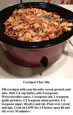 Crockpot Chex Mix