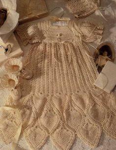 Pineapple Christening Gown Crochet Pattern by VintageEtsian, $5.00