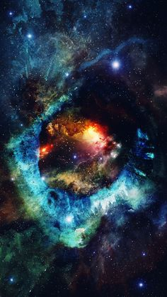 Download Exploding Colorful Nebula Space iPhone 5 Wallpaper