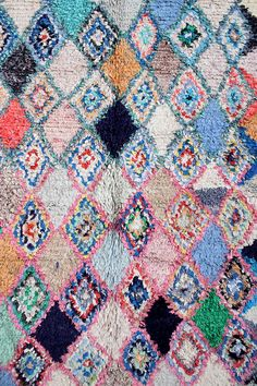 """would be so wonderful at the cottage! Boucherouite Rug, Cottage, 4′ x 8'8"""" From Baba Souk"""