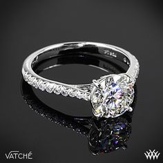 Vatche Inara Pave Diamond Engagement Ring with 1.243ct A CUT ABOVE