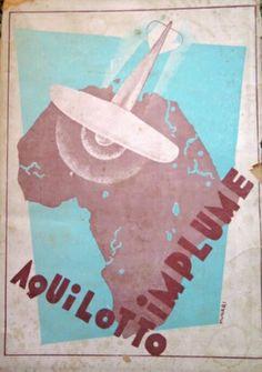 Aquilotto implume, di Giuseppe Romeo Toscano (1929), copertina futurista di Bruno Munari.
