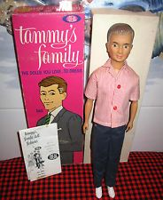 1963 IDEAL Tammy Family~DAD DOLL  Original Box+Outfit~COMPLETE~Booklet~EXCELLENT