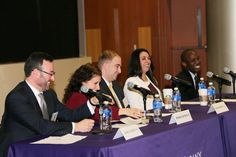 Enjoying a laugh with the panel of Network NYC hosted by the University at Albany.
