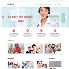 Norma Clean Responsive WordPress Theme