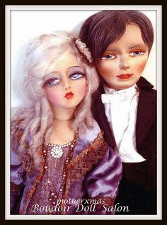 Boudoir Doll- Etta and Blossom man boudoir  dolls.  I  just  love to take  photos  of  my  dolls  in  pairs or  groups. I  do  find  that  the ladies  often  fight  to be  with  the  guys. He is the priest  from the  Blossom wedding  party  in  tuxedo for the photo op