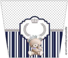 Esse Kit do Ursinho Príncipe, não precisa ser necessariamente usado em festa de aniversário, pode ser usado também em batiz...