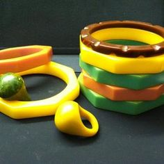 Vintage Bakelite Jewelry--just in at The Funk House 55 to $65