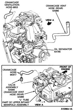 2002 Ford Explorer Hose Vent Diagram. Ford. Auto Parts