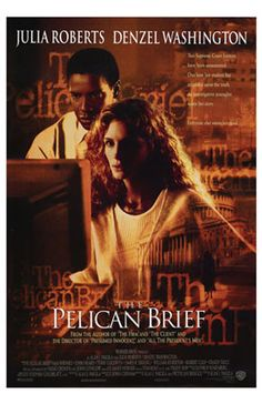 Pelican Brief : 1993 - another movie based on John Grisham novel... It was so disappointing to see the movie.. damaged my image after reading the book.. Julia Roberts might not be a right person for this low student... did not enjoy the movie like I did with the book.