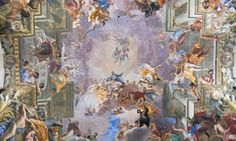 the fresco of St Ignatius being welcomed into heaven at his church in Rome.