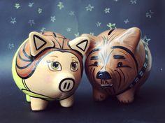 Belle & Chewie by Daniela Umbert / #piggybanks #disney #beautyandthebeast…
