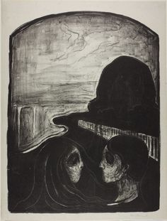 Original Goth: Edvard Munch:     theregoesmygun:    splinter-eye:fuckyeahexpressionism:Edvard Munch, Attraction I, 1896