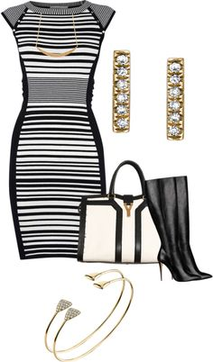 """STRIPED DRESS"" by stizzy on Polyvore"